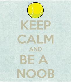 Poster: KEEP CALM AND BE A  NOOB