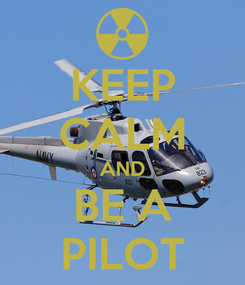 Poster: KEEP CALM AND BE A PILOT