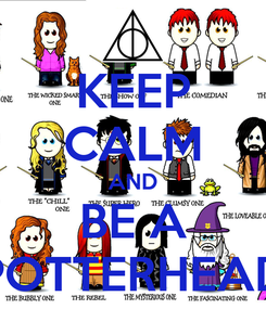 Poster: KEEP CALM AND BE A POTTERHEAD