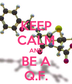 Poster: KEEP CALM AND BE A Q.F.