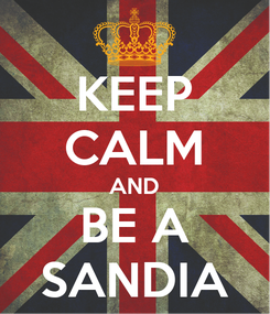 Poster: KEEP CALM AND BE A SANDIA