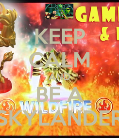 Poster: KEEP CALM AND BE A SKYLANDER
