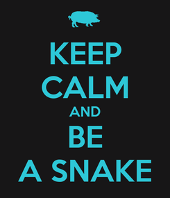 Poster: KEEP CALM AND BE A SNAKE