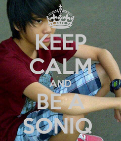Poster: KEEP CALM AND BE A SONIQ