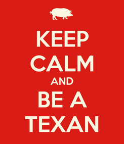 Poster: KEEP CALM AND BE A TEXAN