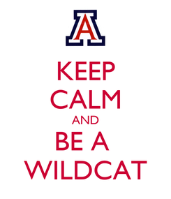 Poster: KEEP CALM AND BE A  WILDCAT