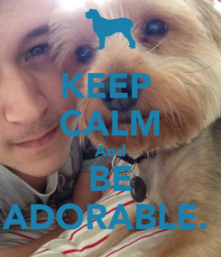 Poster: KEEP  CALM And BE ADORABLE.