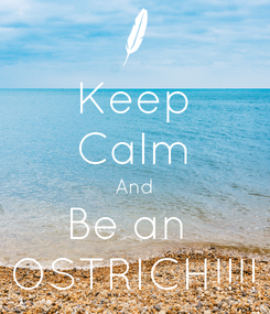 Poster: Keep Calm And Be an  OSTRICH!!!!