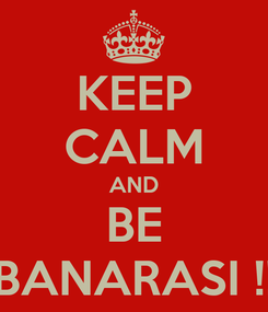 Poster: KEEP CALM AND BE BANARASI !!