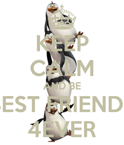 Poster: KEEP CALM AND BE BEST FRIENDS 4EVER