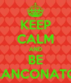 Poster: KEEP CALM AND BE BLANCONATOR