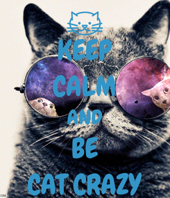 Poster: KEEP CALM AND BE CAT CRAZY