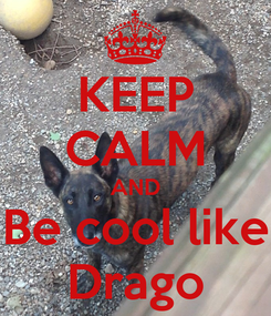 Poster: KEEP CALM AND Be cool like Drago