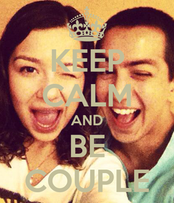 Poster: KEEP CALM AND BE COUPLE