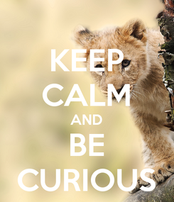 Poster: KEEP CALM AND BE CURIOUS