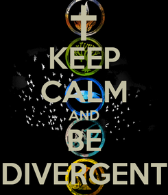 Poster: KEEP CALM AND BE DIVERGENT