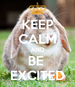 Poster: KEEP CALM AND BE  EXCITED
