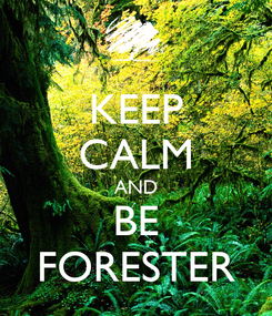Poster: KEEP CALM AND BE FORESTER