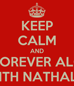 Poster: KEEP CALM AND BE FOREVER ALONE WITH NATHALIE