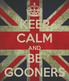 Poster: KEEP CALM AND BE GOONERS