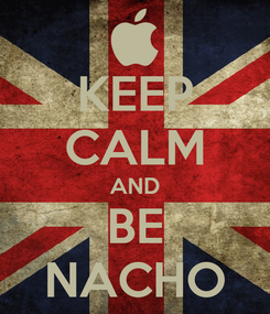 Poster: KEEP CALM AND BE NACHO
