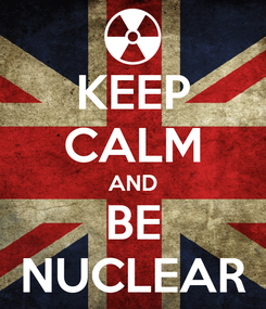 Poster: KEEP CALM AND BE NUCLEAR