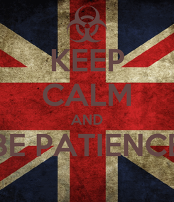 Poster: KEEP CALM AND BE PATIENCE