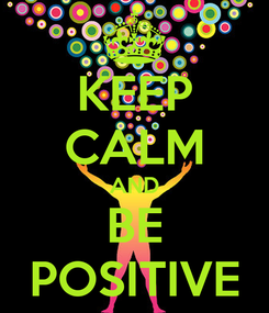 Poster: KEEP CALM AND BE POSITIVE