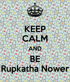 Poster: KEEP CALM AND BE Rupkatha Nower