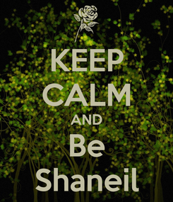 Poster: KEEP CALM AND Be Shaneil