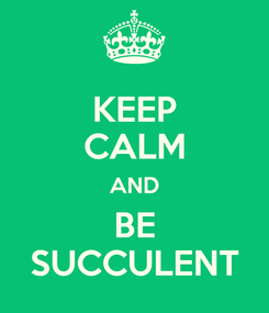 Poster: KEEP CALM AND BE SUCCULENT