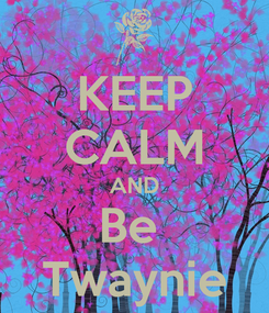 Poster: KEEP CALM AND Be  Twaynie