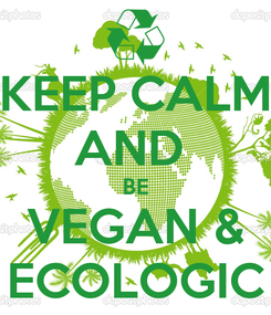 Poster: KEEP CALM AND  BE VEGAN & ECOLOGIC