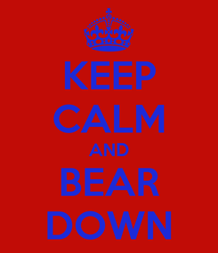 Poster: KEEP CALM AND BEAR DOWN
