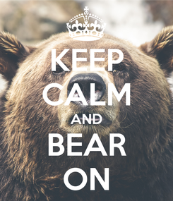 Poster: KEEP CALM AND BEAR ON