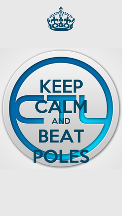 Poster: KEEP CALM AND BEAT POLES
