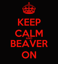 Poster: KEEP CALM AND BEAVER ON