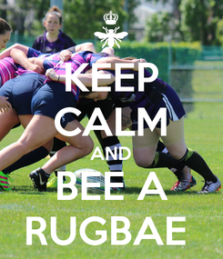 Poster: KEEP CALM AND BEE A RUGBAE