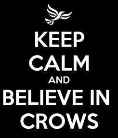 Poster: KEEP CALM AND BELIEVE IN  CROWS