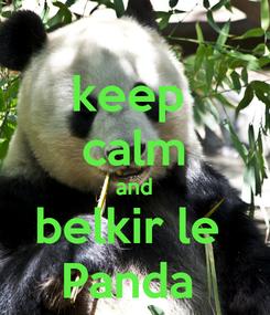 Poster: keep  calm and belkir le  Panda