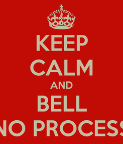 Poster: KEEP CALM AND BELL NO PROCESS