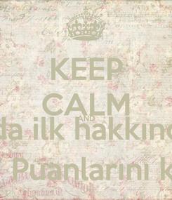 Poster: KEEP CALM AND BES Sınavında ilk hakkında Başarılı ol BV Puanlarını kap