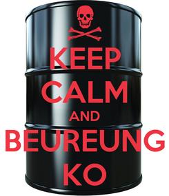 Poster: KEEP CALM AND BEUREUNG KO