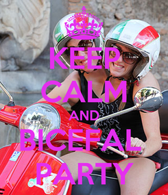 Poster: KEEP CALM AND BICEFAL  PARTY