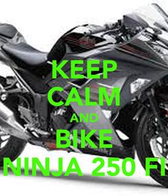 Poster: KEEP CALM AND BIKE NINJA 250 FI
