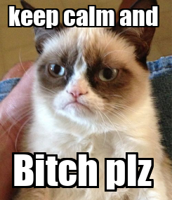 Poster: keep calm and  Bitch plz