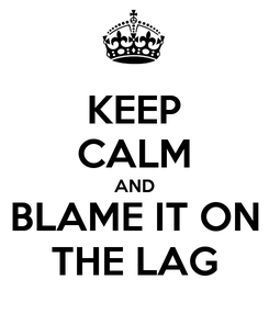 Poster: KEEP CALM AND BLAME IT ON THE LAG