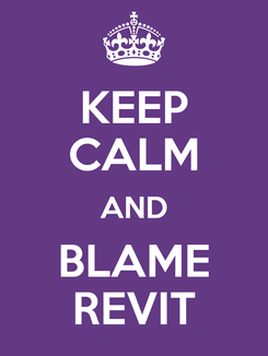 Poster: KEEP CALM AND BLAME REVIT