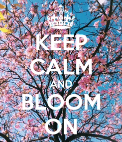 Poster: KEEP CALM AND BLOOM ON