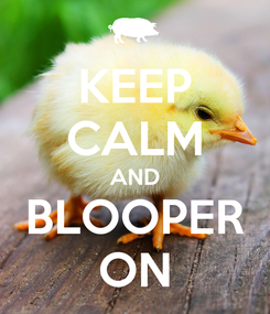 Poster: KEEP CALM AND BLOOPER ON